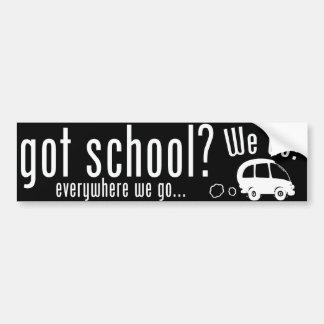 Gekregen School? Bumpersticker