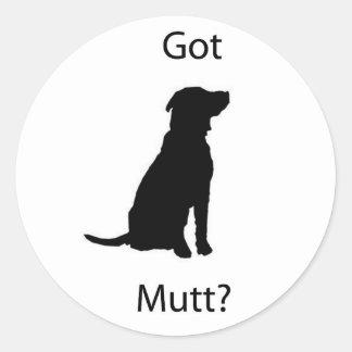 Gekregen Straathond  Ronde Sticker