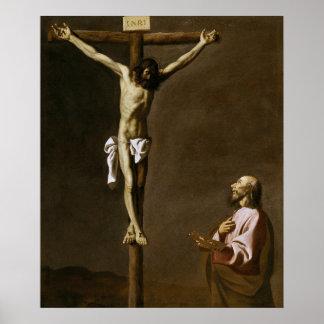 Gekruisigde Christus met een Schilder Poster
