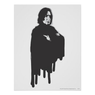 Gekruiste B-W van Snape van Severus Wapens Poster