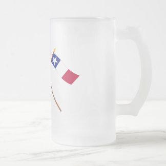 Gekruiste Vlaggen Texas en Dodson Matglas Bierpul