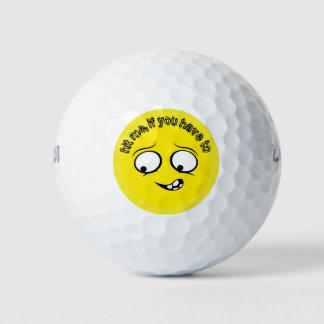 Gelaten Gele Emoji Golfballen
