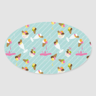 Gelato Gelato Ovale Sticker