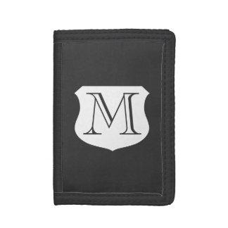 Geldportefeuilles met monogram voor man