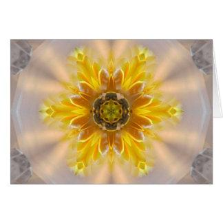 Gele Bloem van Zegen Briefkaarten 0
