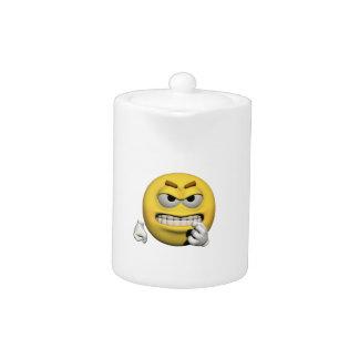 Gele boze emoticon of smiley