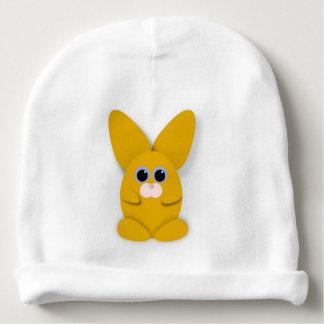 Gele Bunn op het Witte Pet van het Baby Baby Mutsje