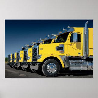 Gele Coronado Freightliners Poster
