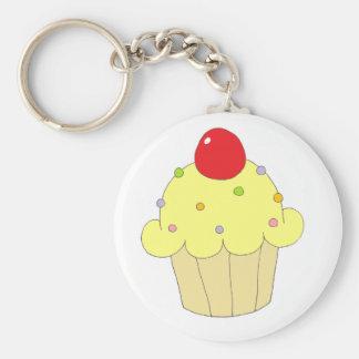 Gele Cupcake Sleutel Hangers