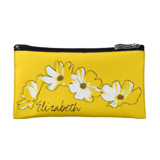 Gele Daisy Chain Cosmetic Tasje Small