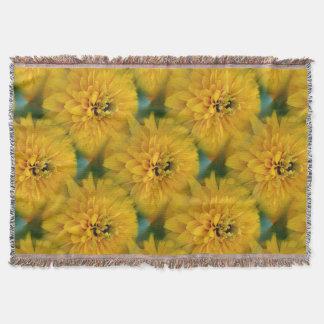 Gele Daisy Flower Nature Art Pattern Deken
