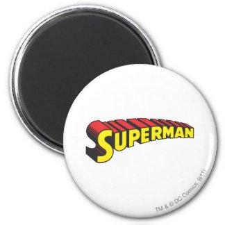 Gele de Brieven van de superman/Rood Koelkast Magneetje