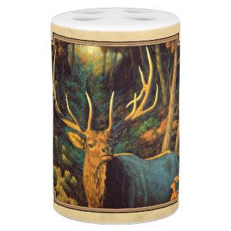 Gele de Herfst van de Elanden van de stier Badkamer Set