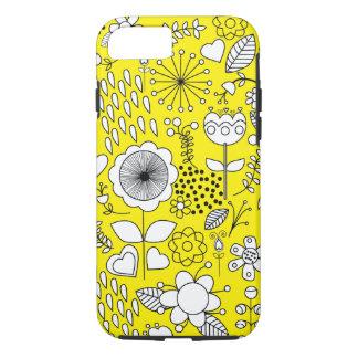 Gele de hoesje-Partner van Bloemen Taaie iPhone 7 iPhone 8/7 Hoesje