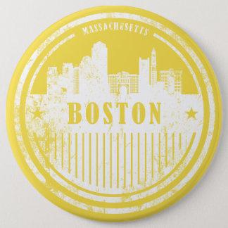 Gele de horizonknoop van Boston Ronde Button 6,0 Cm