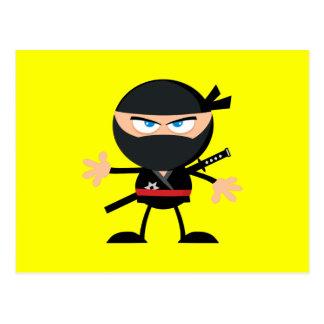 Gele de Strijder van Ninja van de cartoon Briefkaart