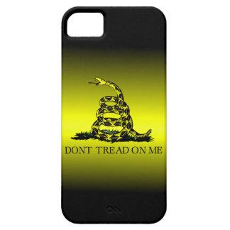 Gele de Vlag van Gadsden en de Zwarte verdwijnen Barely There iPhone 5 Hoesje