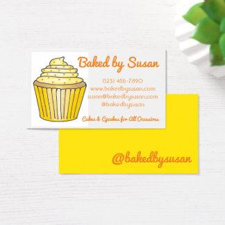 Gele die Cake Cupcake door de Chef-kok van het Visitekaartjes