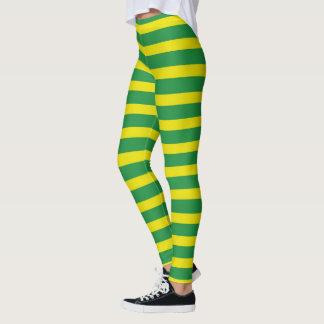 Gele en Groene Strepen Leggings