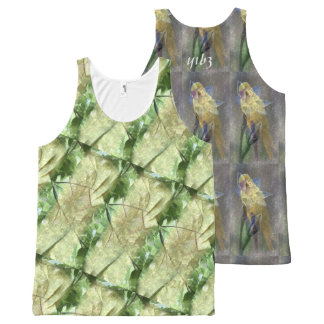 GELE EN GROENE TWEE All-Over-Print TANK TOP