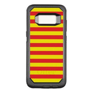 Gele en Rode Horizontale Strepen OtterBox Commuter Samsung Galaxy S8 Hoesje