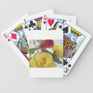 Gele en Rode Rozen Poker Kaarten