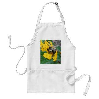 gele en zwarte Bij op gele bloem Standaard Schort