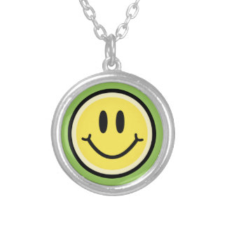 Gele Glimlach Ketting Rond Hangertje