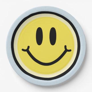 Gele Glimlach Papieren Bordje