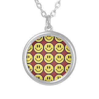 Gele Glimlach Zilver Vergulden Ketting