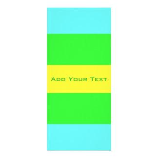 Gele, Groene, Blauwe Brede Strepen door Shirley Reclamekaart