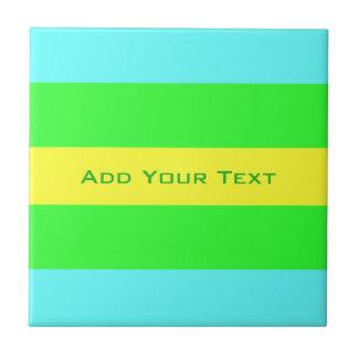 Gele, Groene, Blauwe Brede Strepen door Shirley Tegeltje