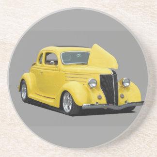 gele hete staafauto zandsteen onderzetter