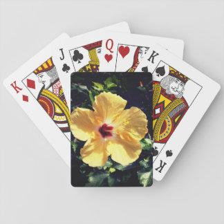 Gele Hibiscus Speelkaarten