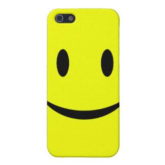 Gele iPhone 4 van het Gezicht Smiley Hoesje iPhone 5 Covers