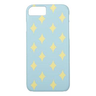 Gele iPhone 7 van het diamantpatroon hoesje