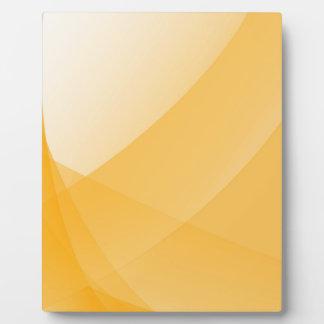 Gele krommen fotoplaat