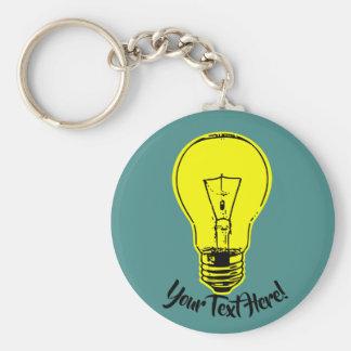 Gele lamp sleutelhanger