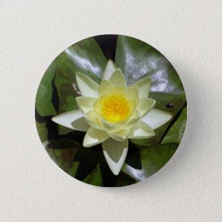 Gele Lotus en leliestootkussens Ronde Button 5,7 Cm