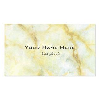 Gele marmeren steen eenvoudige visitekaartjes
