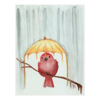 Gele Paraplu Briefkaart