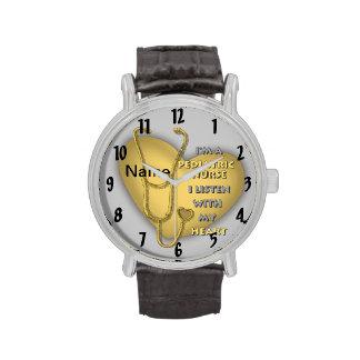 Gele Pediatrische Verpleegster Horloge