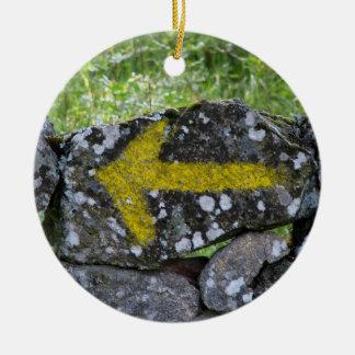 Gele Pijl op het Ornament van de Omheining