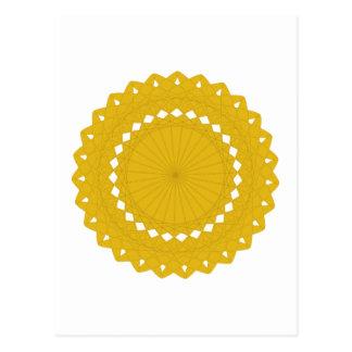 Gele Ronde Grafisch van de mosterd Briefkaart