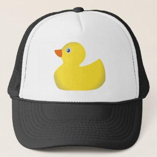 Gele rubber ducky trucker pet