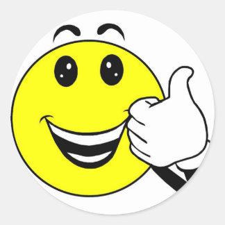 gele smiley stiker ronde sticker