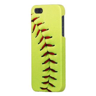 Gele softballbal iPhone 5 cover