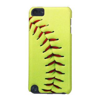 Gele softballbal iPod touch 5G hoesje