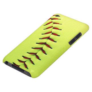 Gele softballbal iPod touch hoesje