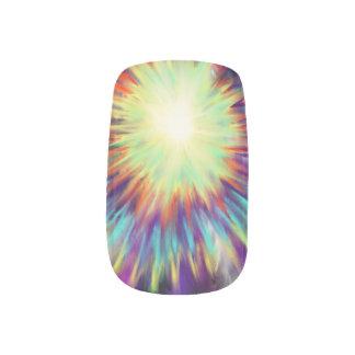 Gele Starburst op Ontwerp van de Kunst Aqua het Minx Nail Folie